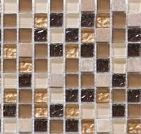 Мозаика из натурального камня для кухни Vivacer DAF4 коричневая