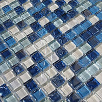 Мозаика стекло Vivacer DAF6 синяя