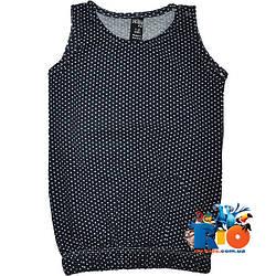 """Летняя детская футболка майка """"Горошек"""" , из трикотажа , для девочки от (1-2)(3-4)(5-6)(7-8) лет"""