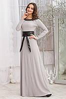 Длинное теплое платье из трикотажа