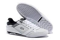 Мужские кроссовки Lacoste (Лакост) белые
