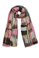 Молодежный шарф с розовым оттенком