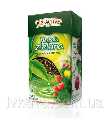 Чай зеленый Big-Active с опунцией, 100 гр, фото 2