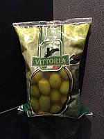 """Гиганские оливки зелёные в герметичном пакете """"Vittoria"""" Olive Verdi Dolci Giganti 850g"""