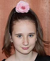 Заколка резинка для волос  Роза. Заколка в школу.