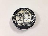 Заглушки колпачки литых дисков Mercedes AMG Affalterbach чёрно-белая
