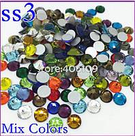 Стразы MIX SS-3 1,3 мм(стекло) Упаковка 720 штук