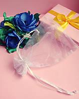 Мешочек из органзы /размер 10х12 см./ упаковка подарков/ цвет белый