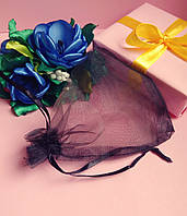 Мешочек из органзы /размер 10х12 см./ упаковка подарков/ цвет черный