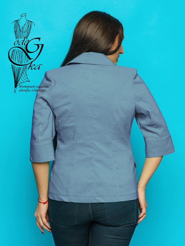 Фото-3 Летнего женского пиджака Змейка-1 с рукавом ¾ без подкладки