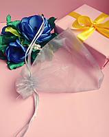 Мешочек из органзы /размер 10х12 см./ упаковка подарков/ цвет серый