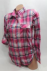 Женская молодежная рубашка в клетку ML оптом в Хмельницком
