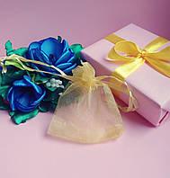Мешочек из органзы /размер 7х9 см./ упаковка подарков/ цвет желтый
