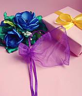 Мешочек из органзы /размер 7х9 см./ упаковка подарков/ цвет фиолетовый