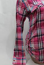 Женская молодежная рубашка в клетку ML оптом в Хмельницком, фото 3