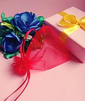 Мешочек из органзы /размер 7х9 см./ упаковка подарков/ цвет красный