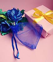 Мешочек из органзы /размер 7х9 см./ упаковка подарков/ цвет синий
