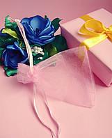 Мешочек из органзы /размер 7х9 см./ упаковка подарков/ цвет светло-розовый