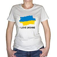 """Женская футболка """"Флаг Украины"""""""