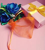 Мешочек из органзы /размер 7х9 см./ упаковка подарков/ цвет оранжевый