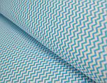 Ткань с мини-зигзагом 7 мм голубого (морского) цвета № 263, фото 3