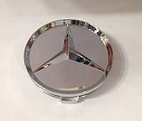Заглушки колпачки литых дисков Mercedes хром, фото 1
