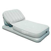 Кровать велюр 67386 поднимающаяся спинка Intex