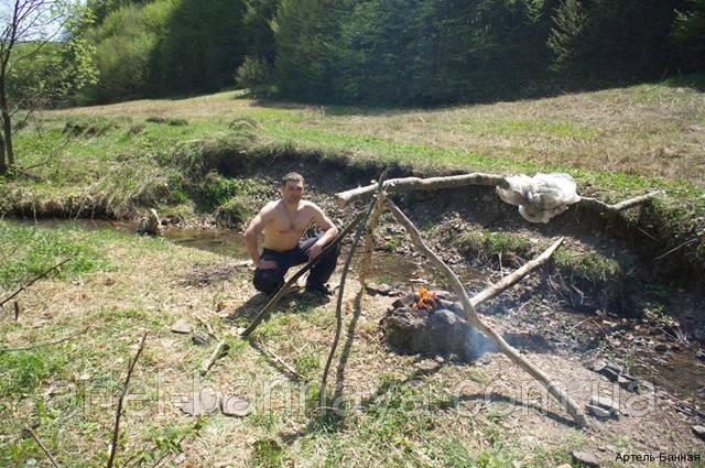 Артель Банная . баня в горах, печь паровоз