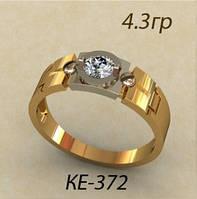 Оригинальное золотое женское кольцо 585 пробы
