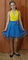 Нарядная  летняя юбка с бантом для девочки, 140 см, Киев. Оригинальный подарок