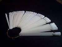Типсы палитра-веер белый на кольце 50 шт/упак.