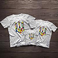 """Сімейні футболки ручного розпису для всієї родини """"Україна"""", фото 1"""