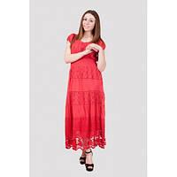 Красивое летнее платье кораллового цвета