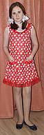 Летнее платье ситцевое для девочки в горошек. Оригинальный подарок на 8-е марта, фото 1