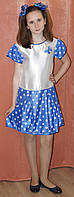 Нарядное платье для девочки горошек. Оригинальный подарок. Платье на выпускной бал., фото 1