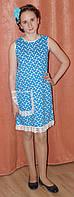 Летнее платье - сарафан для девочки в горошек. Оригинальный подарок, фото 1