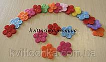 Цветы из фетра пятилистные