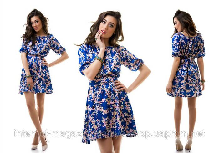 Женское платье из атласа в 5 расцветках