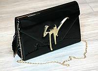 Женская сумка Zanotti черная, клатч 2016