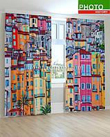 Фотошторы разноцветные дома