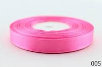 Атласная лента 12 мм.,  розовая (23 м.)