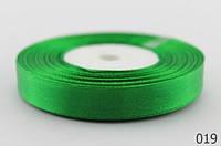 Атласная лента 12 мм.,  зелёная (23 м.)
