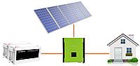 """Гибридная солнечная электростанция ESTAR 10G (10 кВт) Резерв с АКБ + """"Зелёный тариф"""""""