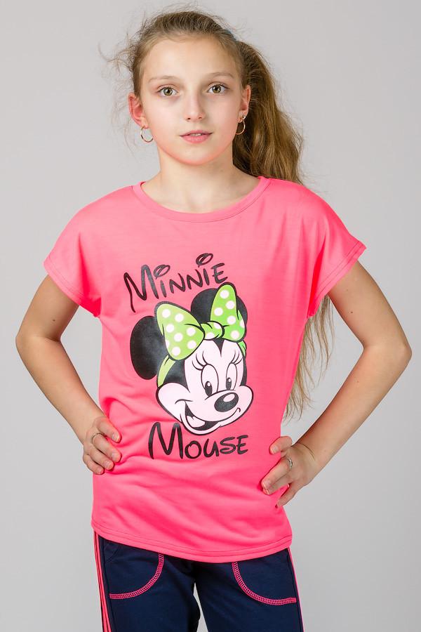 Детская футболка из трикотажа для девочки Маус