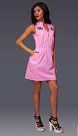 Платье женское с нашивками в расцветках 10422, фото 1