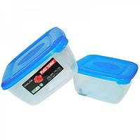 Набор емкостей пищевых квадратных Polar 0.95+1.5 литра Plast Team