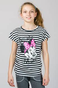 Детская трикотажная футболка в полоску Минни Маус
