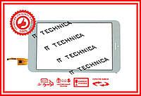 Тачскрин 213x121mm 10pin T80WXJC01A01 БЕЛЫЙ Отверстие под динамик