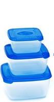 Набор емкостей пищевых квадратных Polar 0.46+0.95 и 1.5 литра Plast Team