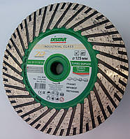Алмазный диск на фланце для резки и шлифовки гранита Distar Duplex Turbo 125x2,8x8x22,23/M14F